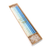 BLUE GLITTER CAKE CANDLES (PACK OF 12)
