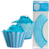 Bakery Crafts Reversible Baby Boy Treat Wraps 48pc