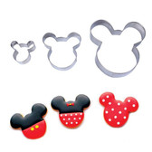 MICKEY MOUSE COOKIE CUTTER  3 PIECE set