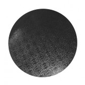 CAKE BOARD   BLACK   7 INCH   ROUND   MDF   6MM THICK