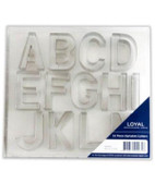 Loyal Set of 26 Piece Alphabet cutters (Large)