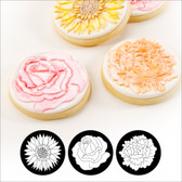 Autumn Carpenter Cupcake and Cookie Texture Tops - Floral