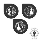 Claire Bowman Cake Stencil Classical Ladies Collection