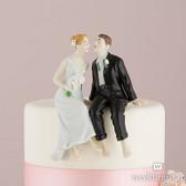 Wedding Star Whimsical Sitting Bride And Groom