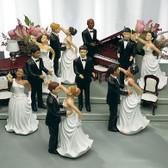 Wedding Star Interchangeable Bride & Groom - Caucasian Brown Hair Groom