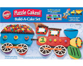 Wilton Puzzle Cakes! Build A Cake Set Silicone Baking Cups Transportation
