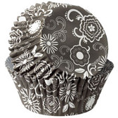 Wilton ColorCups Black and White Floral 36pc