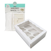 Cupcake Box White with PVC Window (holds 6 cupcakes)