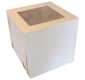 14 inch Cake Box White with PVC Window