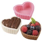 Wilton Candy Mold Cups 3 Cavity Heart Dessert Shell