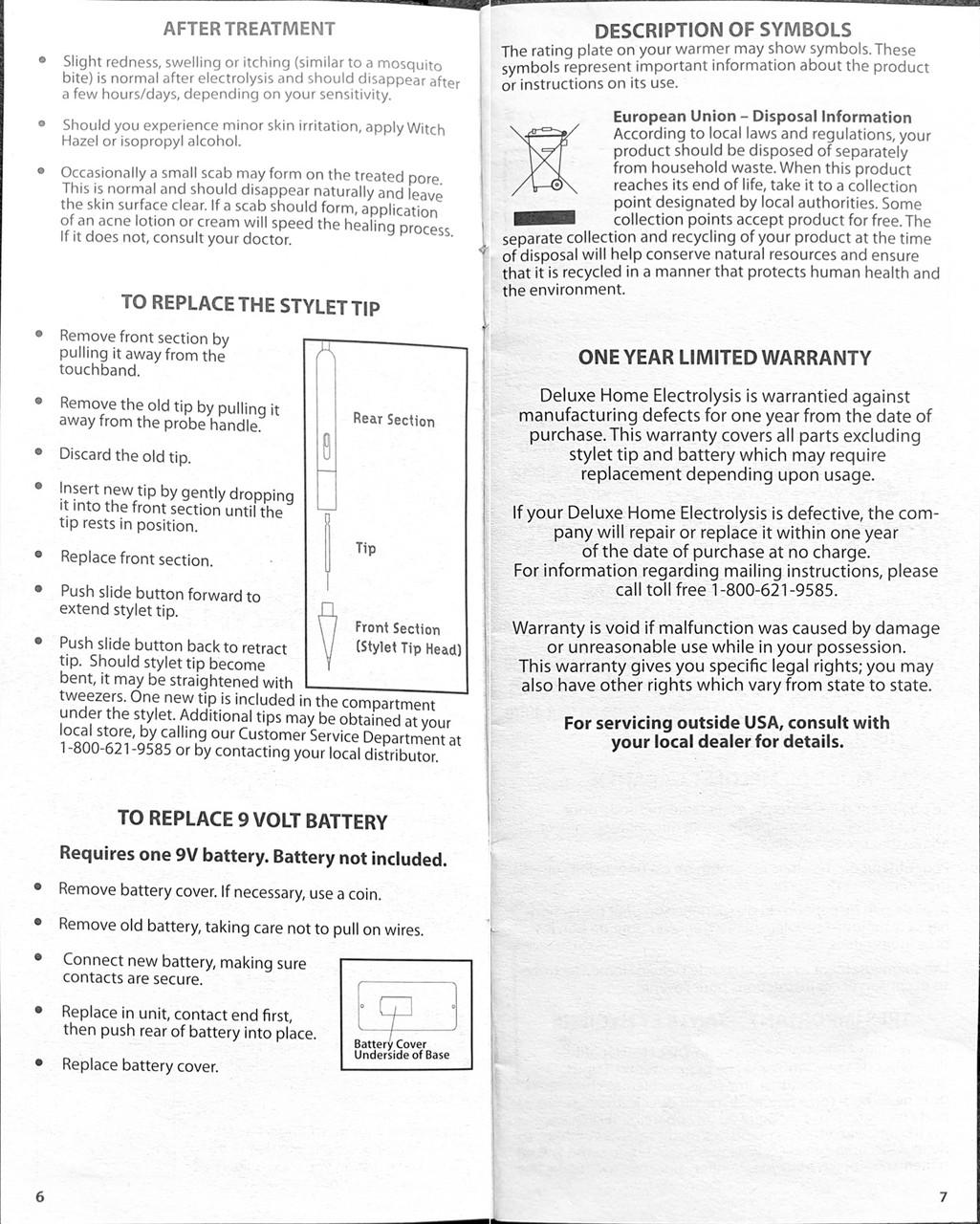 Clean & Easy Deluxe Home Electrolysis Kit