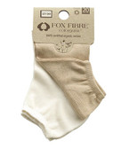 Body4Real Organic Cotton Clothing UNISEX ANKLE SOCKS BROWN/WHITE - VEGAN AND HYPOALLERGENIC 40/42