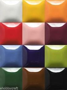 Mayco Stroke & Coat Wonderglaze for Bisque, Set 3 - 2 oz Jars - Set of 12 Colors