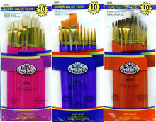 BIG LOT OF 30 ROYAL ARTIST PAINT BRUSHES ~SABLE, BRISTLE, TAKLON