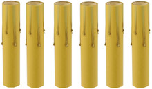 Creative Hobbies 1775 - 4 Inch Tall Antique Look Drip Candle Socket Covers ~Candelabra Base, 6 Pieces