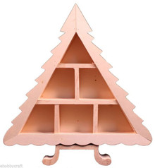 "10"" Tall Wood Christmas Tree Shadow Box Unfinished Wood Craft Display"