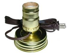 Mason Jar Lamp Making Kit Is Pre Wired And Easy To Use Gold Color Lid Socket