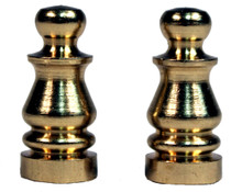 Solid Brass Lamp Shade Finial ELY505 -1 inch Tall, Brass Plated, Pack of 2