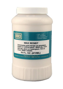 AMACO Wax Resist For Ceramic Greenware or Bisque 1 Pint Jar