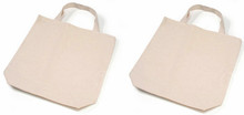 Creative Hobbies® Natural Canvas Tote Bag, 13.5 x 14 x 3.25 Inches, Pack of 2 , Great for Decorating with Fabric Markers, Rhinestones, & More