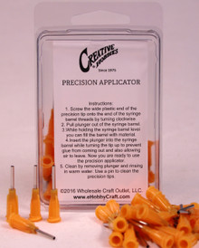 15 Gauge 0.5 Inch, Orange Color, Precision Applicator Dispensing Needle Tips, 50 Pieces