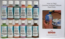Duncan CNKIT-3 Concepts Underglaze Paint Set, 12 Best Selling Colors in 2 Ounce Bottles with Free How To Paint Ceramics Book