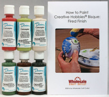 Duncan CNKIT-13 Concepts Underglaze Christmas Colors Paint Set, 6 Best Selling Colors in 2 Ounce Bottles with Free How To Paint Ceramics Book