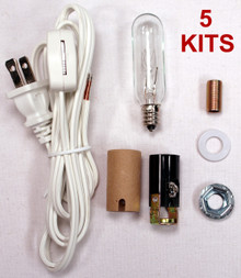 Creative Hobbies® ML2-25B6 Medium Christmas Tree Wiring Kit, 25 watt bulb, Great For Lighting Medium Size Objects, Lot of 5 Kits