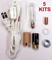 Creative Hobbies® ML2-15B6 Medium Christmas Tree Wiring Kit, 15 watt bulb, Great For Lighting Medium Size Objects, Lot of 5 Kits