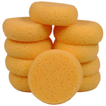 Creative Hobbies® 3-1/2 Inch Round Synthetic Silk Sponges for Painting, Crafts, Ceramics, Household Use & More! Pack of 10 Sponges