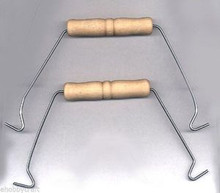 Case of 1,000 - Wire Pail Handles with Wood Grips -For Baskets, Pails, Buckets & More