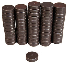 "Creative Hobbies Ceramic Industrial Magnets -11/16 Inch (.709) Round Disc x 3/16"" (.198""), Bulk Pack of 500 Pieces, Ferrite Magnets for Crafts, Science, Hobbies, Bottlecaps - Grade 5 Strong!"