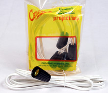 25 Pack of Candelabra Base (E12) Lamp Socket with 6 Foot SPT-1 Wire Lead -Bulk Priced