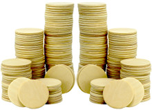 200 Piece Pack of 1.5 Inch Round Wood Cutout Circles Chips for Arts & Crafts Projects, Board Game Pieces, Wooden Nickels, Ornaments and DIY Crafts