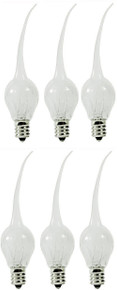 Click image to open expanded view Creative Hobbies® 6 Watt, S6 Shape, Silicone Dipped, Country Style, Electric Candle Lamp Chandelier Light Bulbs, Individually Boxed, Wholesale Pack of 6 Bulbs