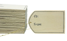 Creative Hobbies 24 Pack - Unfinished Wood Gift Tag Ornaments with Gold Hanger Cords, 3.5 Inch x 2.4 Inch -Make Custom Gift Tags for Birthdays, Christmas, Wine, Wedding Gifts