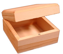 Creative Hobbies Mini Wood Craft Box 3.5 Inch, Unfinished, Hinged Lid and Magnetic Closure