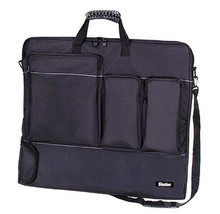 "Deluxe Art Portfolio Case w/Shoulder Strap, Black Canvas ~Big 28""x 24"""