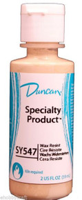 Duncan SY547 Wax Resist for Ceramics, 2 oz Bottle -Kiln Fire after Glazing