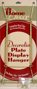 "DELUXE PLATE DISPLAY HANGERS w/FREE HOOKS 10-14""~12 PCS"