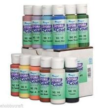 Mayco Stroke & Coat Wonderglaze for Bisque, Set 1 - 2 oz Jars - Set of 12 Colors