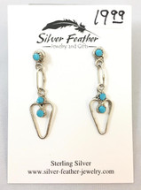 Sterling Silver and Turquoise Earrings- 3435