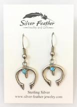 Sterling Silver & Turquoise 'Naja' Earrings- 3428