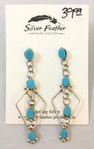 Sterling Silver & Turquoise Earrings- 3440