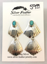 Sterling Silver & Turquoise Earrings- 3441