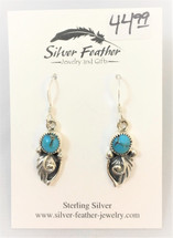 Sterling Silver & Turquoise Earrings- 3445