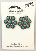 Sterling Silver & Turquoise Earrings- 3446