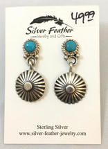 Sterling Silver & Turquoise Earrings- 3447