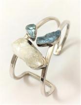 Lilly Barrack Aquamarine Silver and  Quartz Bracelet-3457