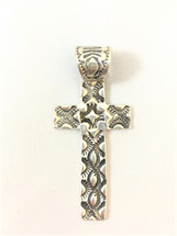 Stamped Sterling Silver Cross Pendant- 3464